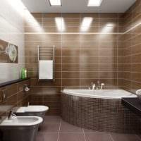 вариант яркого интерьера большой ванной комнаты картинка