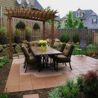 вариант современного декорирования двора частного дома картинка
