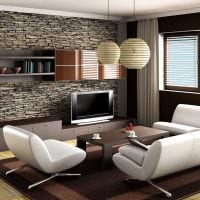 идея красивого стиля гостиной в современном стиле фото