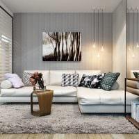 идея яркого интерьера современной квартиры 70 кв.м картинка