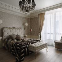 идея яркого интерьера комнаты в стиле современная классика картинка