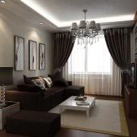 вариант яркого дизайна современной квартиры 50 кв.м фото