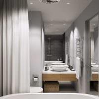 вариант яркого интерьера ванной 4 кв.м фото