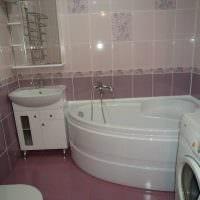 пример светлого интерьера ванной 5 кв.м фото
