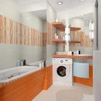 идея яркого дизайна ванной 2.5 кв.м картинка