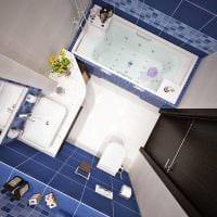 идея красивого стиля ванной 4 кв.м фото