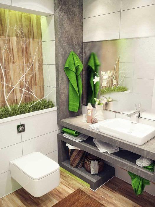 вариант красивого дизайна ванной 4 кв.м