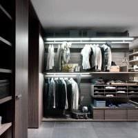 идея современного дизайна гардеробной комнаты картинка