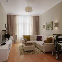 пример яркого стиля гостиной 19-20 кв.м фото