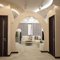 идея необычного дизайна квартиры в светлых тонах в современном стиле фото