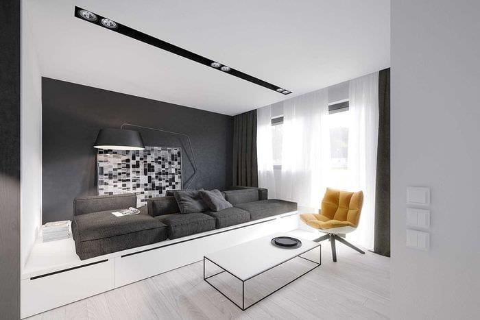 вариант светлого декора современной квартиры 50 кв.м