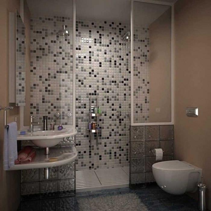 идея современного интерьера ванной комнаты 2017