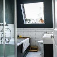 идея современного дизайна ванной комнаты 2.5 кв.м картинка
