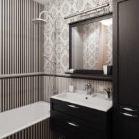 вариант необычного стиля ванной комнаты в классическом стиле картинка