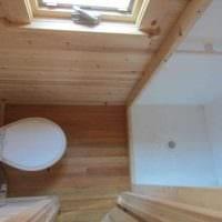 вариант современного интерьера ванной в деревянном доме картинка