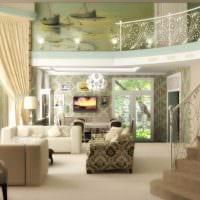 вариант красивого стиля гостиной в частном доме картинка