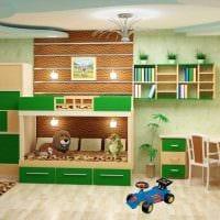 идея необычного декора детской комнаты для двух мальчиков картинка