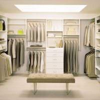 идея необычного стиля гардеробной фото