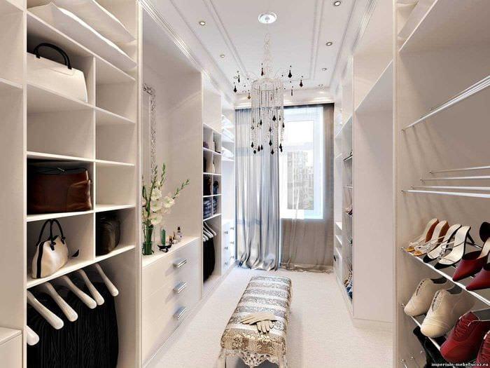 вариант красивого дизайна гардеробной