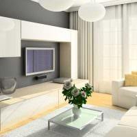 пример светлого стиля гостиной комнаты 25 кв.м фото
