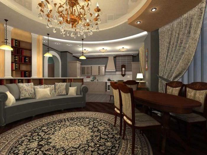 вариант яркого стиля гостиной комнаты 25 кв.м