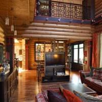 вариант современного стиля дома со вторым светом картинка