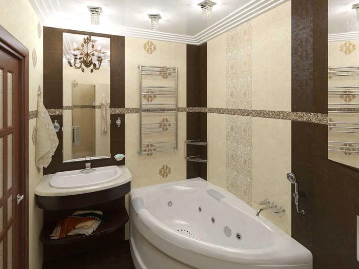 вариант необычного дизайна ванной комнаты 2.5 кв.м