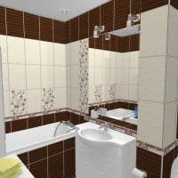 вариант светлого интерьера ванной комнаты 5 кв.м фото