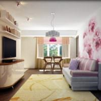 дизайн гостиной 18 квадратных метров