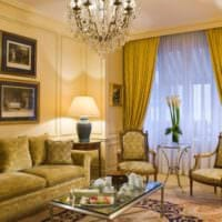 дизайн гостиной 18 квадратных метров классический стиль