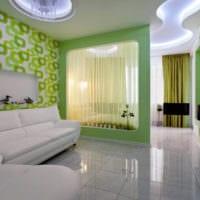 дизайн гостиной 18 квадратных метров со спальней
