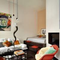 дизайн гостиной 18 квадратных метров яркий