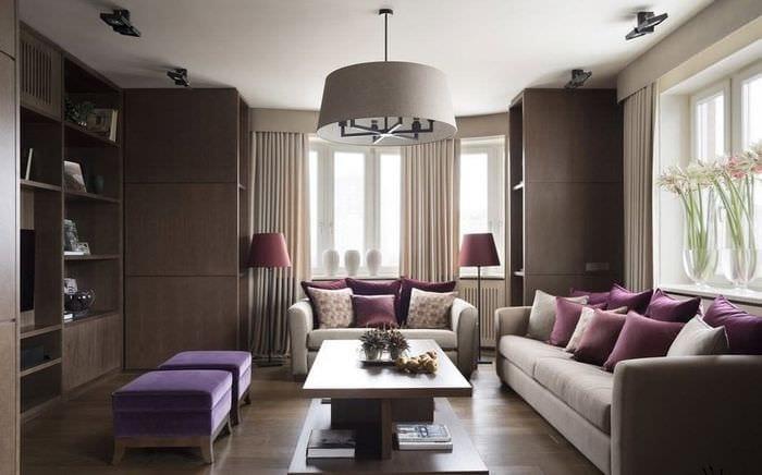 дизайн интерьера гостиной 18 м2