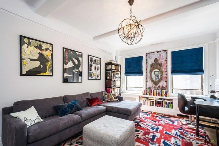 британский дизайн гостиной