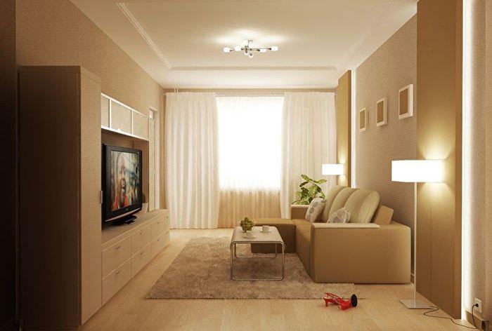 центральное освещение гостиной