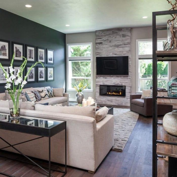 гостиная 18м с диваном креслами