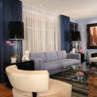 дизайн и интерьер гостиной 18 квадратных метров