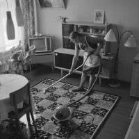 идея яркого дизайна комнаты в советском стиле картинка