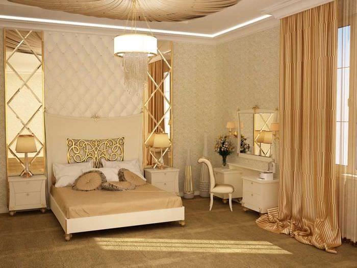 вариант интересного сочетания бежевого цвета в декоре комнаты