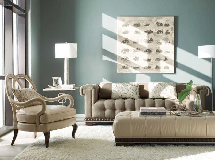идея яркого сочетания бежевого цвета в дизайне квартиры