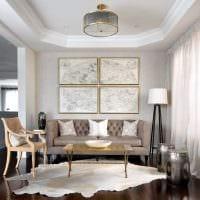 вариант необычного сочетания бежевого цвета в декоре квартиры фото