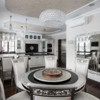 идея применения яркого интерьера кухни картинка