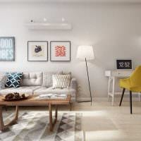 пример применения необычного интерьера комнаты в стиле ретро фото