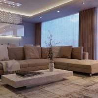 вариант применения интересного бежевого цвета в дизайне комнаты