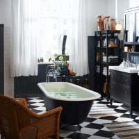 пример использования яркого дизайна комнаты в стиле ретро картинка