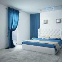 вариант использования необычного голубого цвета в дизайне комнаты картинка