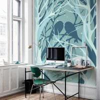 идея применения яркого голубого цвета в стиле дома фото
