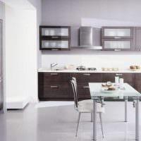 пример применения светлого дизайна кухни картинка