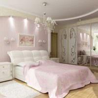 пример применения розового цвета в ярком интерьере квартире фото