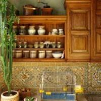 идея использования русского стиля в красивом декоре комнате картинка